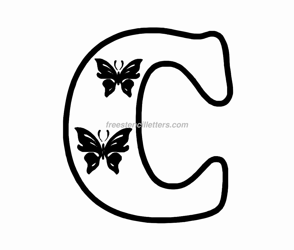 Letters Stencils to Print Inspirational Print C Letter Stencil Free Stencil Letters