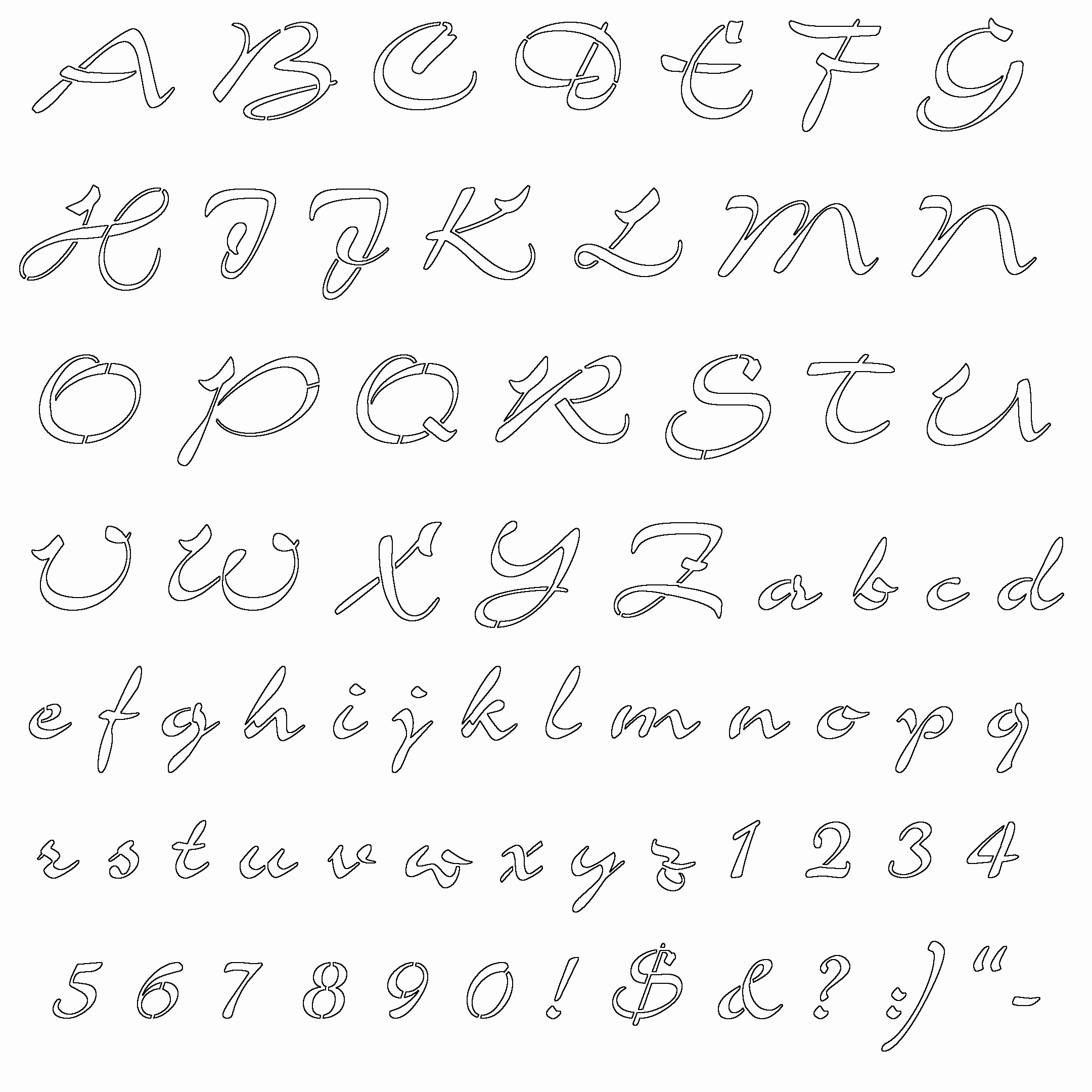 Letters Stencils to Print Lovely Fancy Letters Stencils Graffiti Drawing