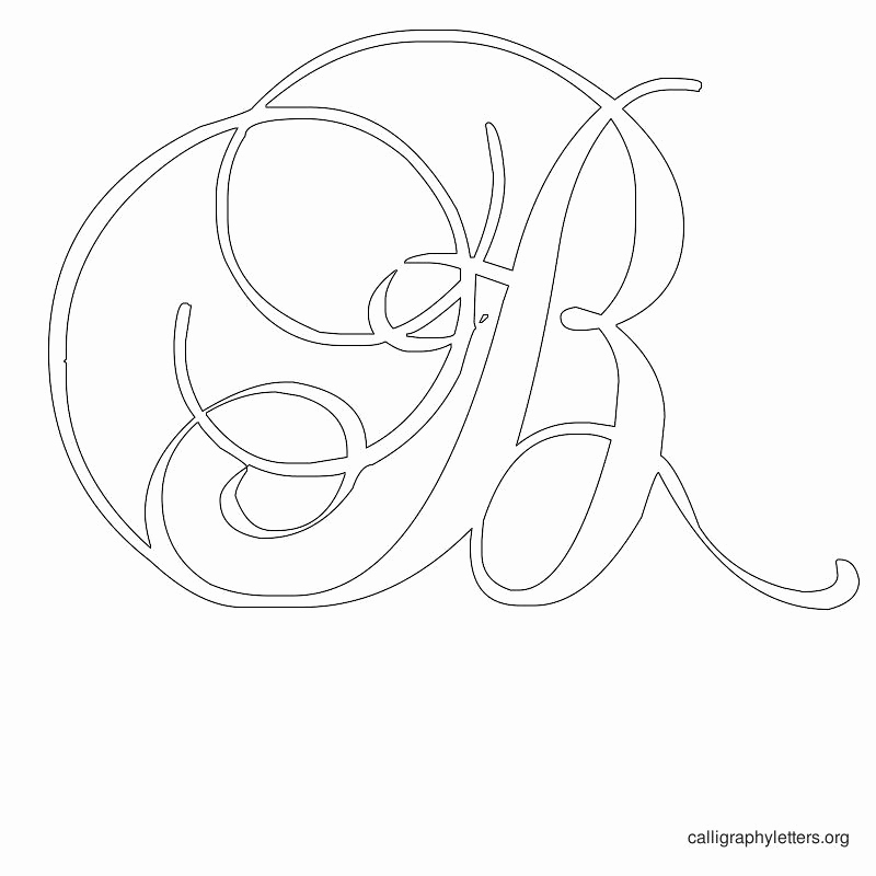 Letters Stencils to Print Luxury Free Printable Calligraphy Letter Stencils to Print