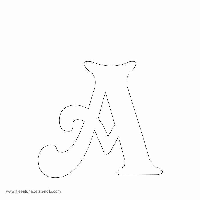 Letters Stencils to Print New Free Printable Stencils for Alphabet Letters Numbers