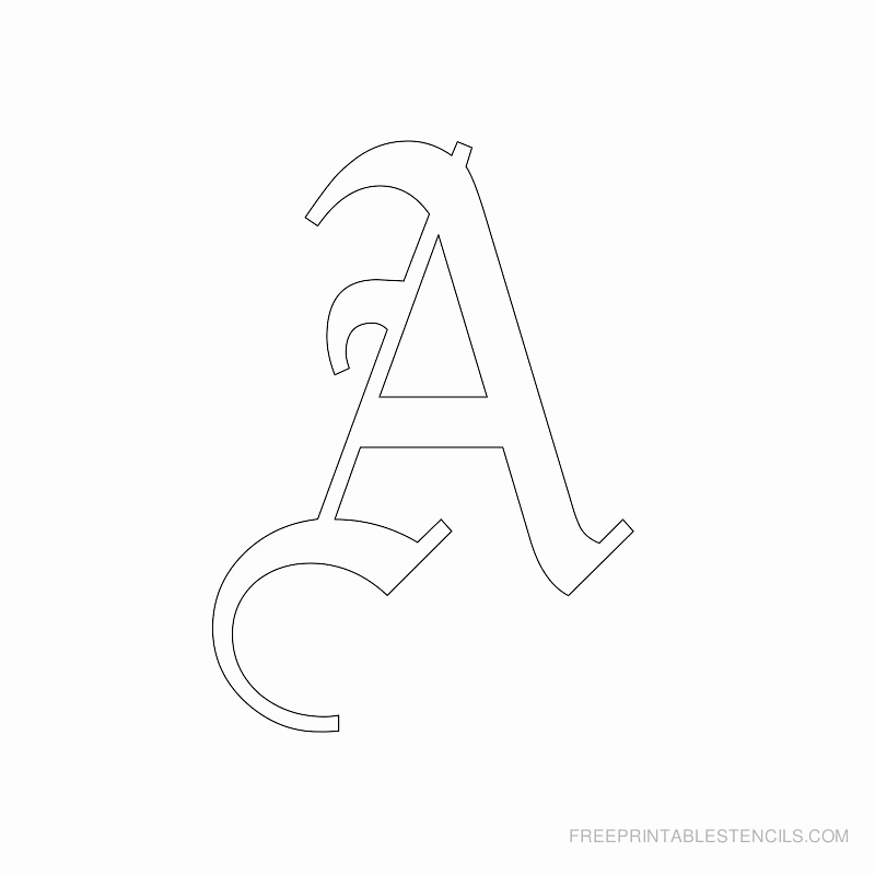 Letters Stencils to Print Unique Printable Old English Letter Stencils