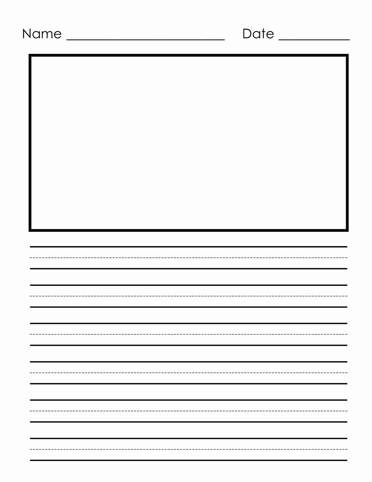 Lined Paper for Kindergarten Fresh Writing Paper Printable for Children