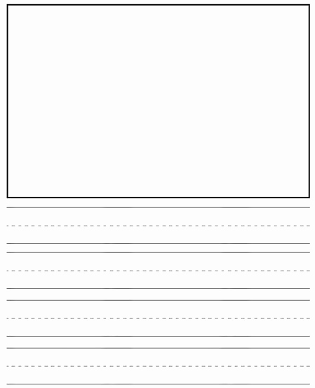 Lined Paper for Kindergarten Lovely Preschool Writing Drawing Paper