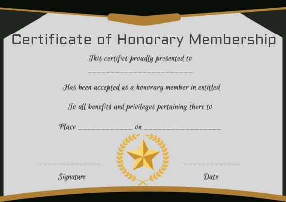 Llc Membership Certificate Template Best Of Free Honorary Life Membership Certificate Template