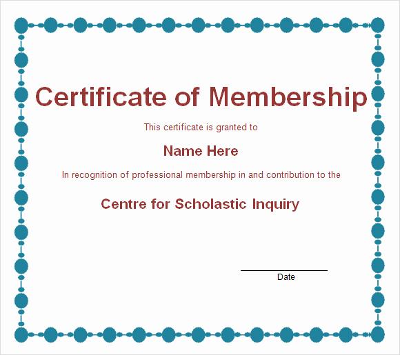 Llc Membership Certificate Template Elegant Membership Certificate Template 15 Free Sample Example