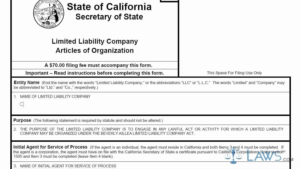 Llc Membership Certificate Template Fresh Articles Of organization Ca Llc 1