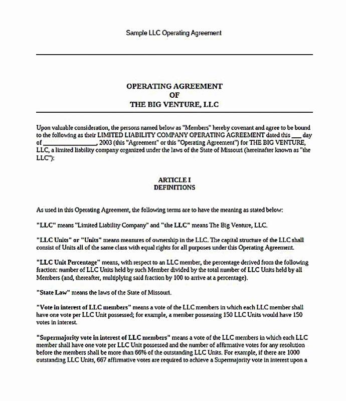 Llc Membership Certificate Template Unique Single Member Llc Operating Agreement Template Free