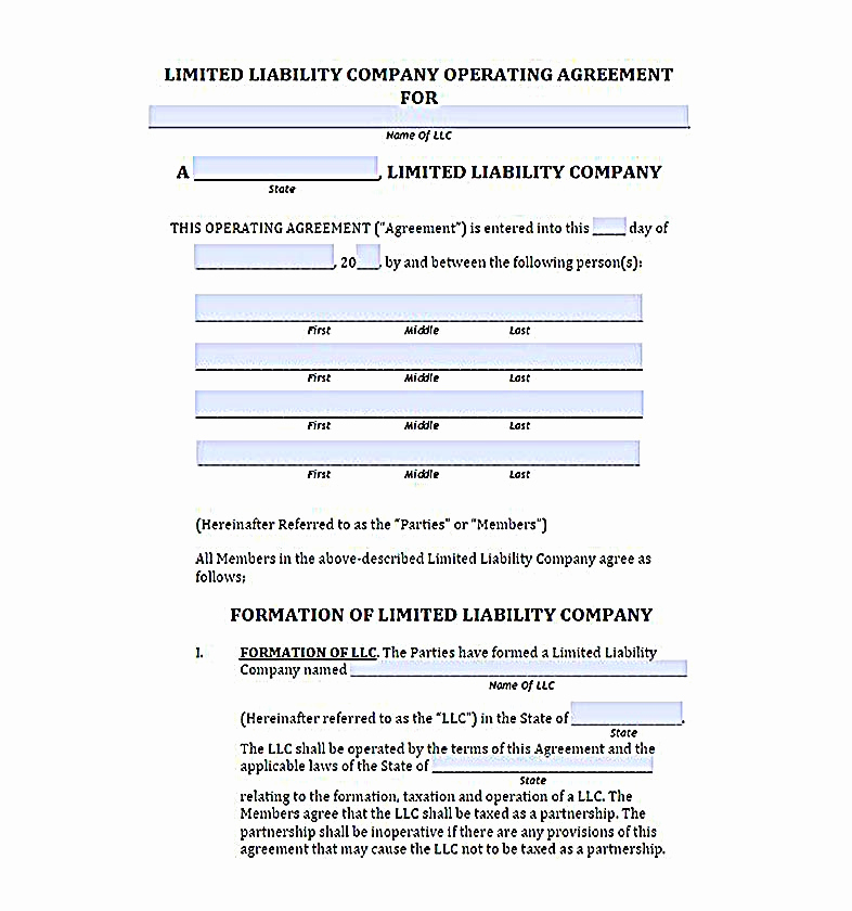 Llc Operating Agreement Pdf Awesome 23 Llc Operating Agreement Template