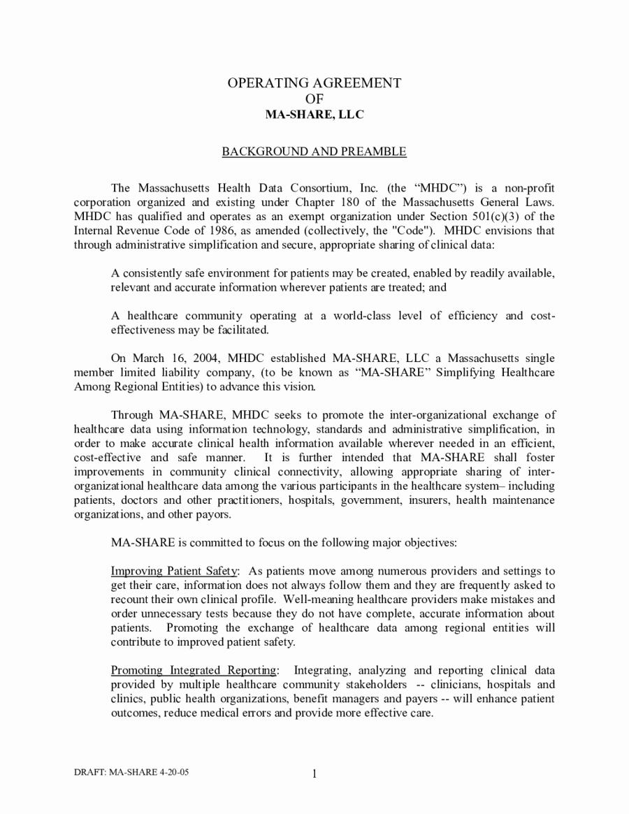Llc Operating Agreement Pdf Elegant Multi Member Llc Operating Agreement Template Edit Fill