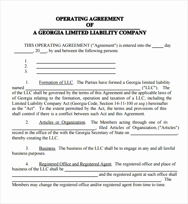 Llc Operating Agreement Pdf Inspirational 9 Business Operating Agreement Examples Pdf