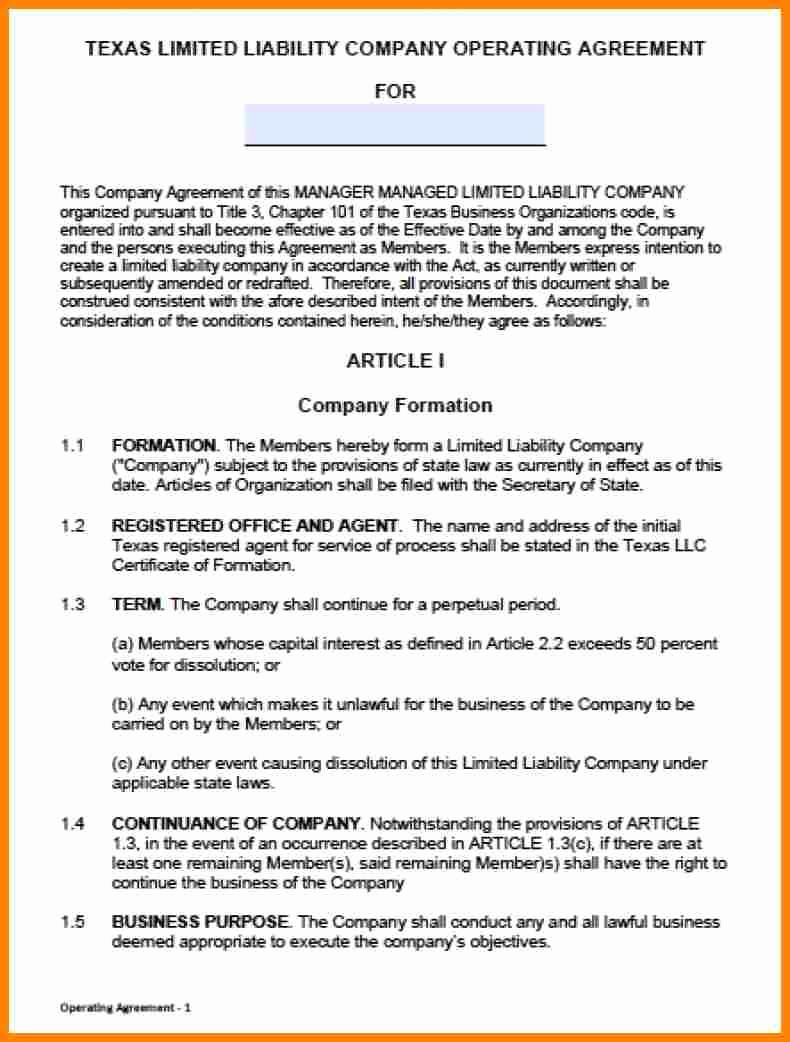 Llc Operating Agreement Pdf Luxury 10 Single Member Llc Operating Agreement
