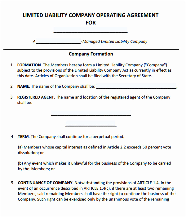 Llc Operating Agreement Pdf Luxury Operating Agreement 7 Free Pdf Doc Download