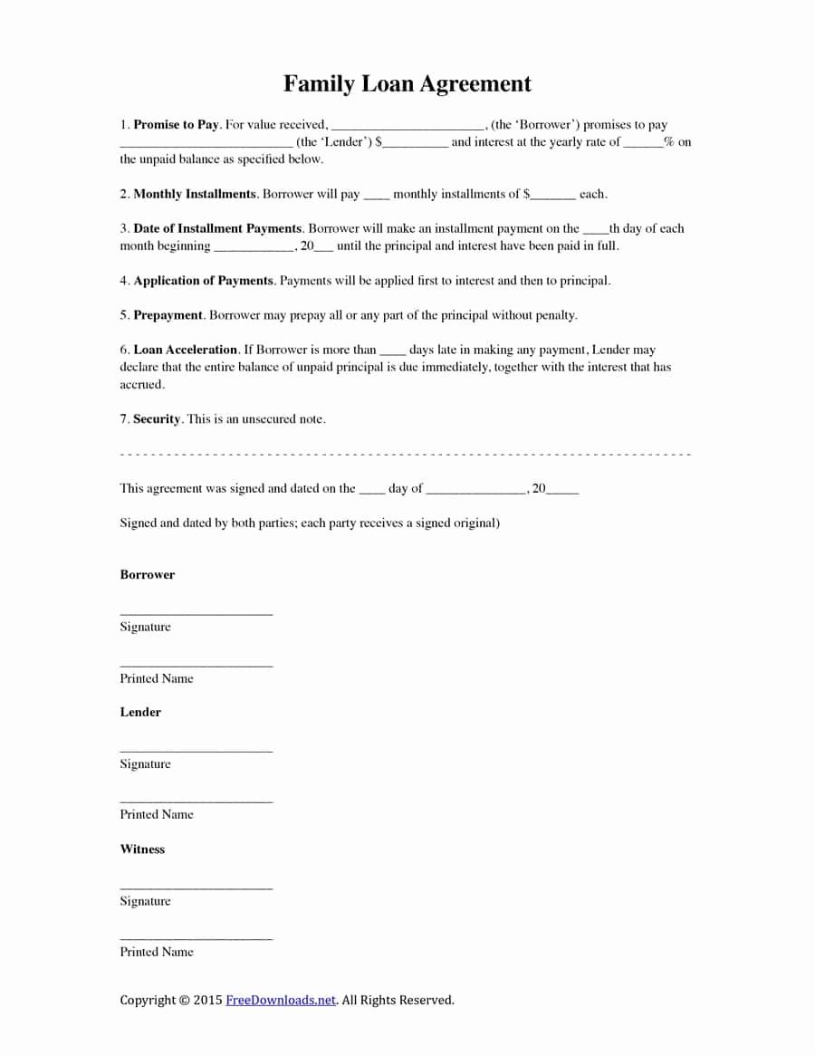 Loan Agreement Between Individuals Elegant 40 Free Loan Agreement Templates [word & Pdf] Template Lab