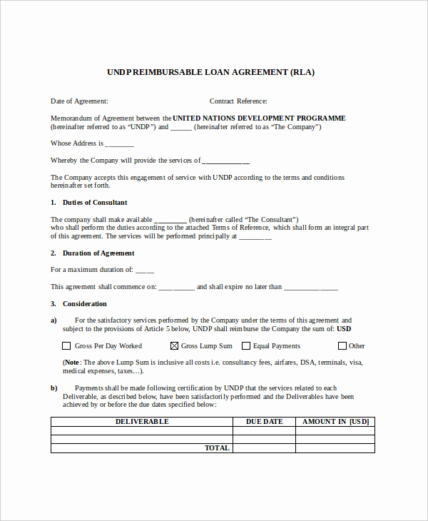 Loan Agreement Between Individuals Fresh Loan Agreement Template 17 Free Word Pdf Document