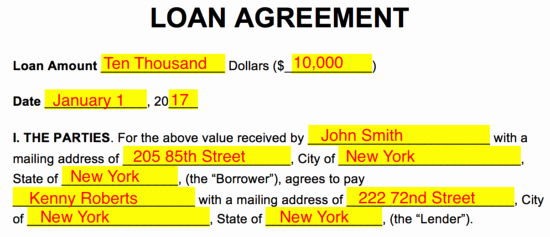 Loan Agreement Between Individuals Inspirational Free Loan Agreement Templates Pdf Word