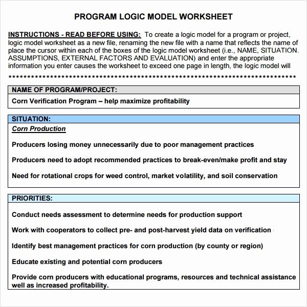 Logic Model Template Word Beautiful Logic Model Template 11 Download Documents In Pdf Word