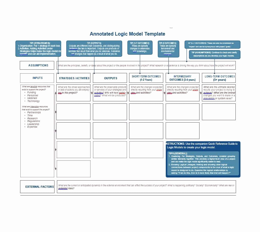 Logic Model Template Word New 11 Logic Model Templates