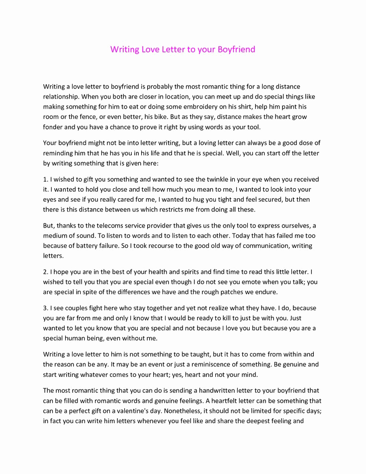 Love Letter to Boyfriend Awesome Cute Paragraphs for Your Boyfriend S Birthday