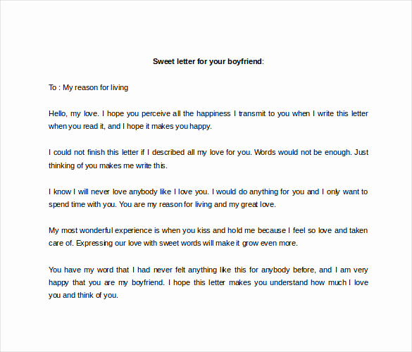 Love Letter to Boyfriend Fresh 9 Sample Love Letter to Boyfriend Doc Pdf