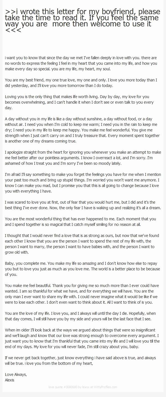 Love Letter to Boyfriend Inspirational An Open Letter to My Boyfriend