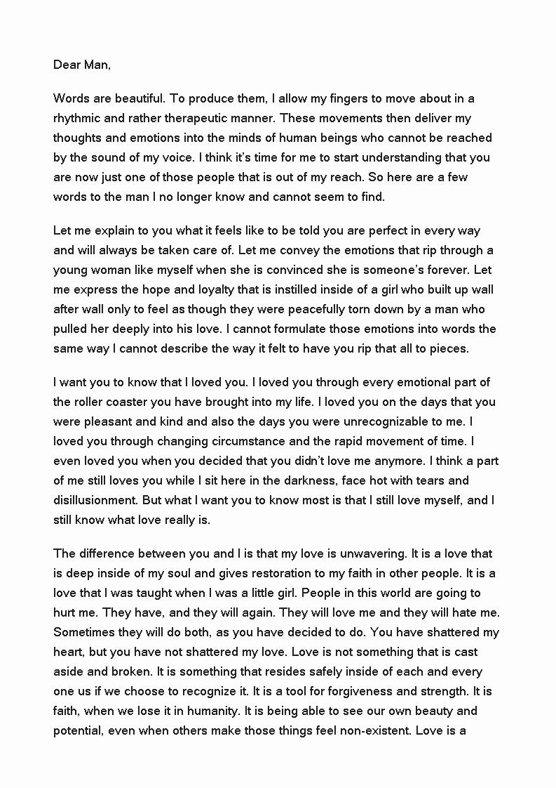 Love Letter to Boyfriend Lovely Free Love Letter to Boyfriend after Break Up