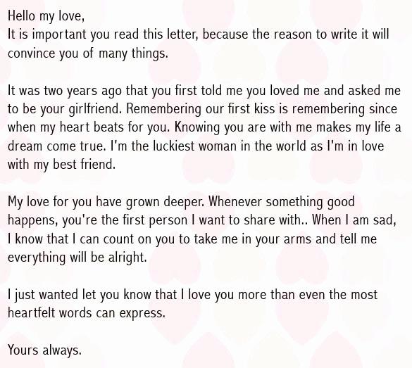 Love Letter to Boyfriend Unique Love Letter to Boyfriend