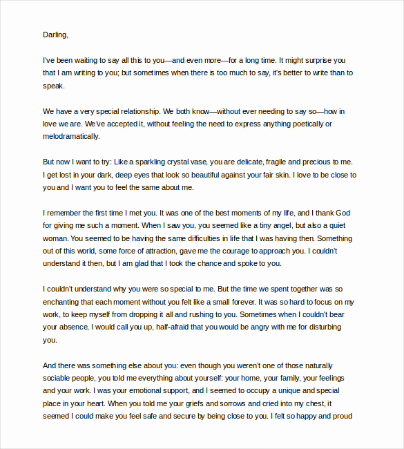 Love Letter to Girlfriend Fresh 12 Love Letter Templates to Girlfriend