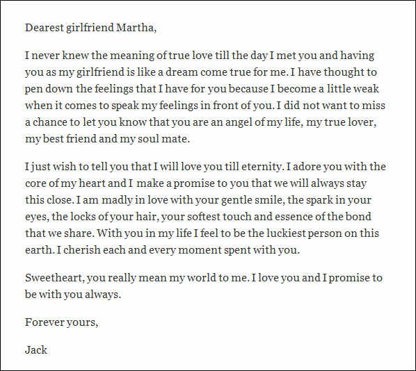 Love Letter to My Gf Lovely 10 Love Letters for Girlfriend Word