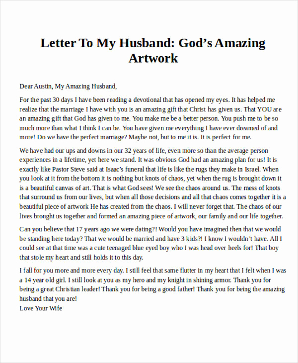 Love Letter to My Husband Awesome Love Letter Examples