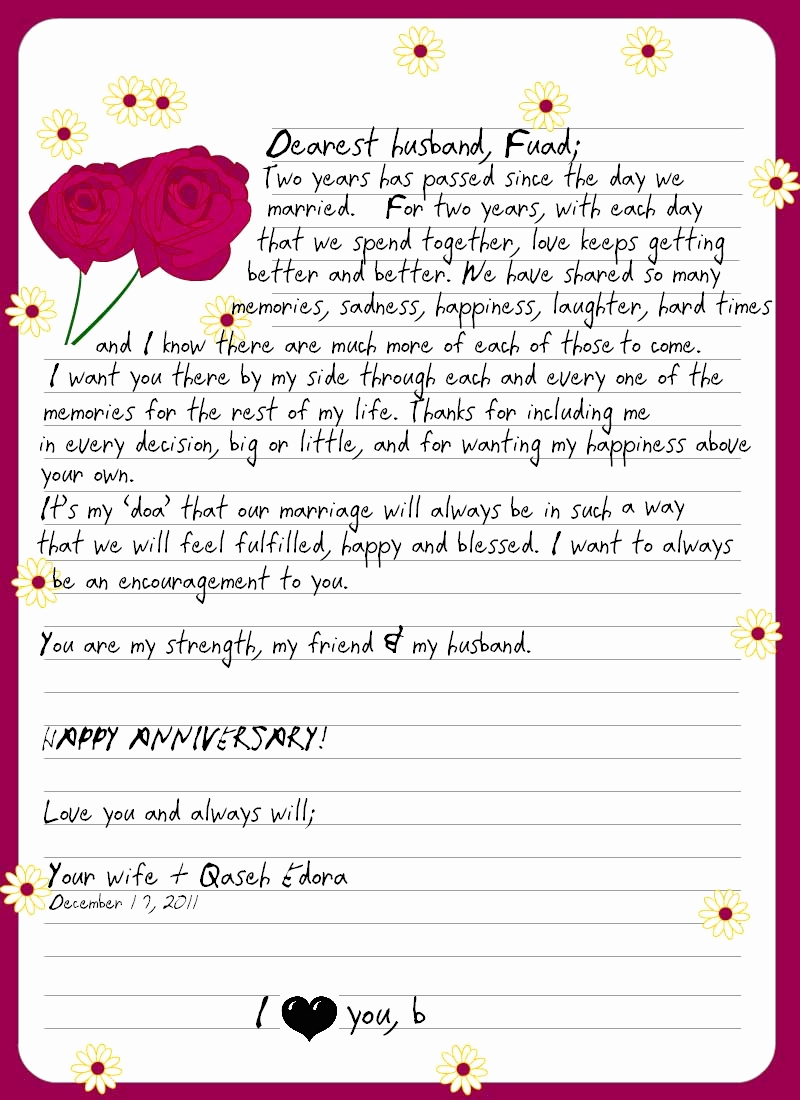 Love Letter to My Husband Elegant Mom & Wife A Love Letter to My Husband