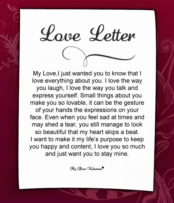 Love Letter to My Husband Lovely Love Letters for Her 18