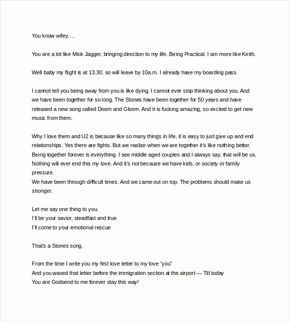 Love Letter to My Wife Fresh 7 Love Letter Templates to My Wife Pdf Doc