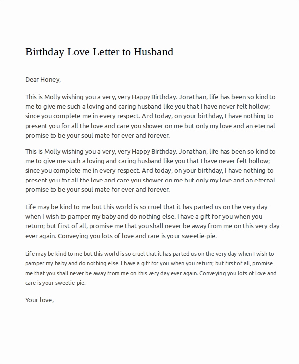 Love Letter to Wife Elegant 7 Sample Love Letters to My Husband