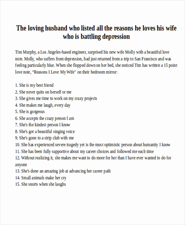 Love Letter to Wife Lovely Love Letter Examples