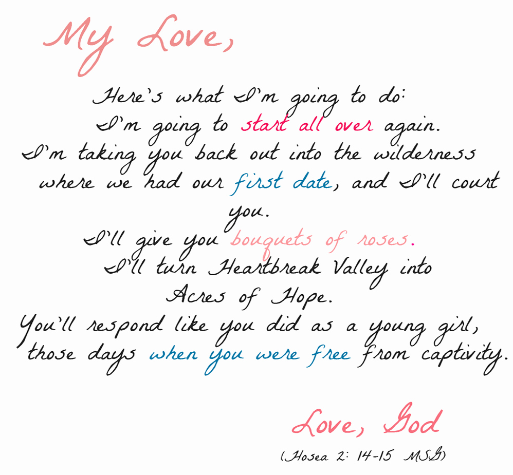 Love Letters to Him Inspirational the Joyeful Journey February 2011