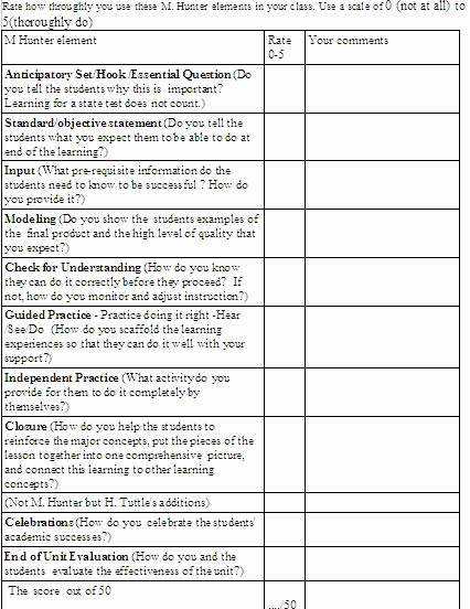 Madeline Hunter Lesson Plan Example Unique Madeline Hunter Lesson Plans On Pinterest