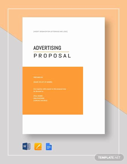 Magazine Template Google Docs Awesome 13 Advertising Proposal Templates Word Pdf