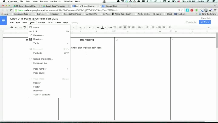 Magazine Template Google Docs Awesome Pamphlet Template Google Doc