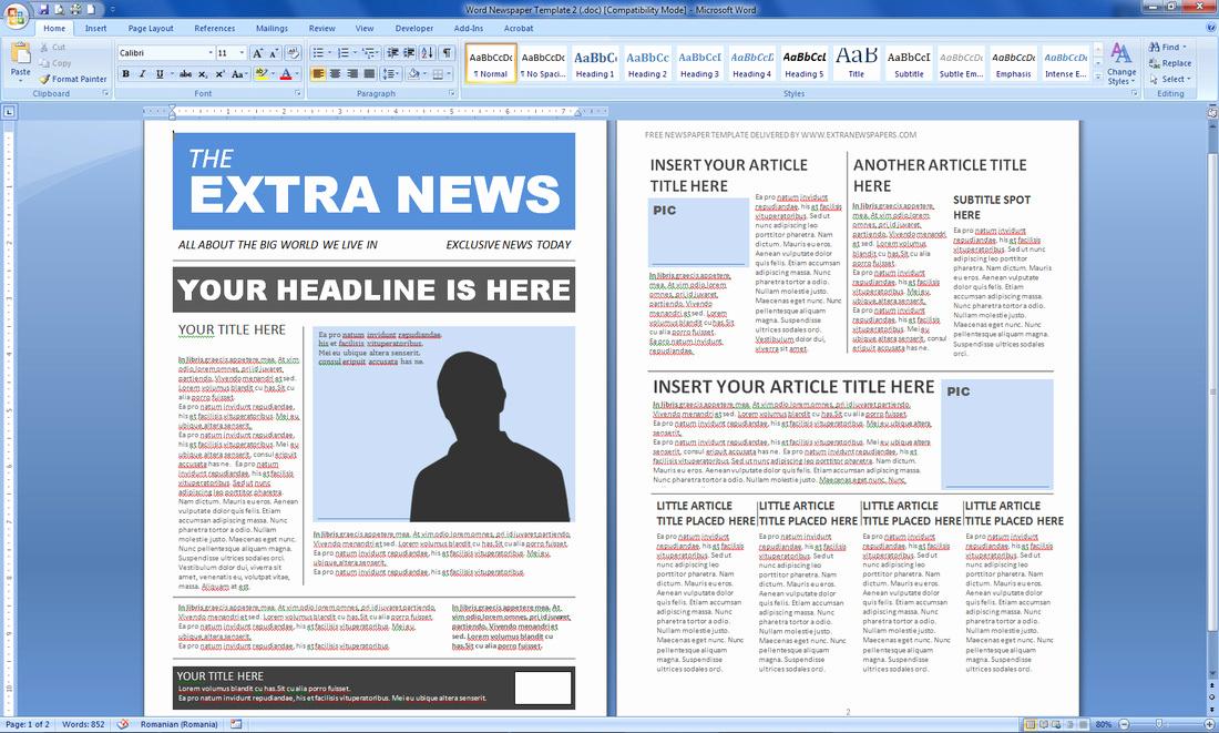 Magazine Template Google Docs Luxury Newspaper Template Publisher