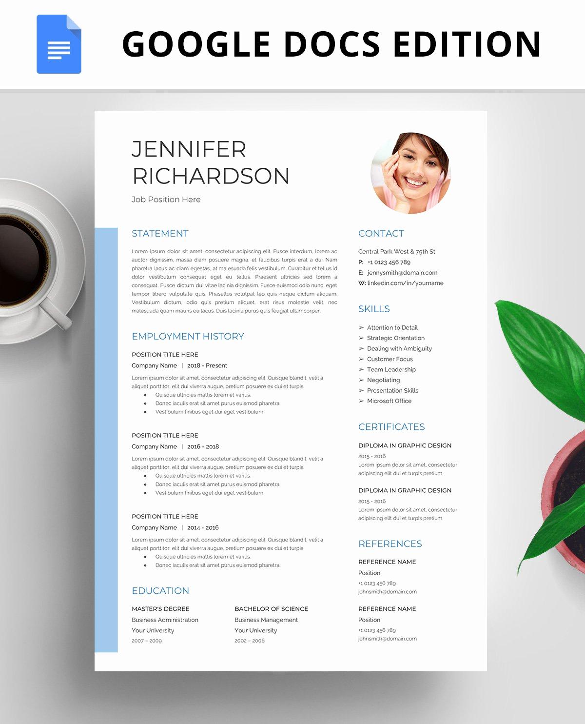 Magazine Template Google Docs New Resume Template Cv Google Docs Resume Templates