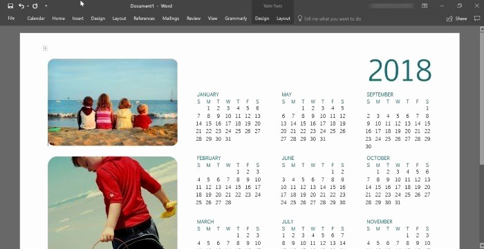 Make A Calendar In Word Awesome How to Create 2018 Calendar Using Fice Word Excel