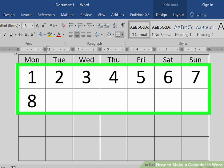 Make A Calendar In Word Luxury How to Make A Calendar In Word with Wikihow