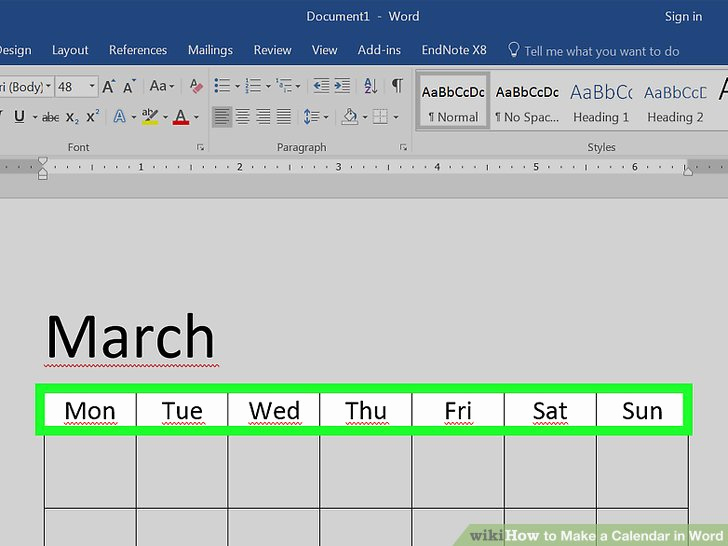 Make A Calendar In Word New How to Make A Calendar In Word with Wikihow