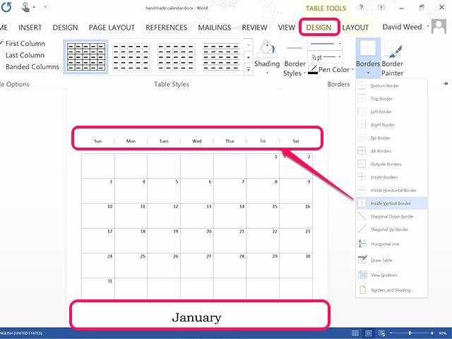 Make A Calender In Word Awesome How to Create A Calendar In Microsoft Word
