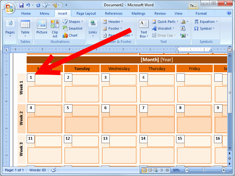 Make A Calender In Word Beautiful How to Create An event Calendar In Microsoft Word 2008 7