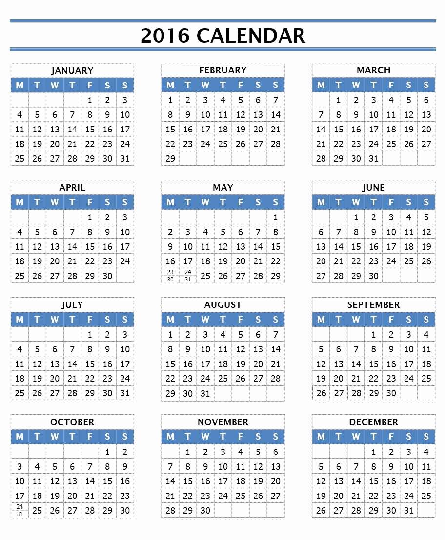 Make A Calender In Word Elegant 2016 Calendar Templates