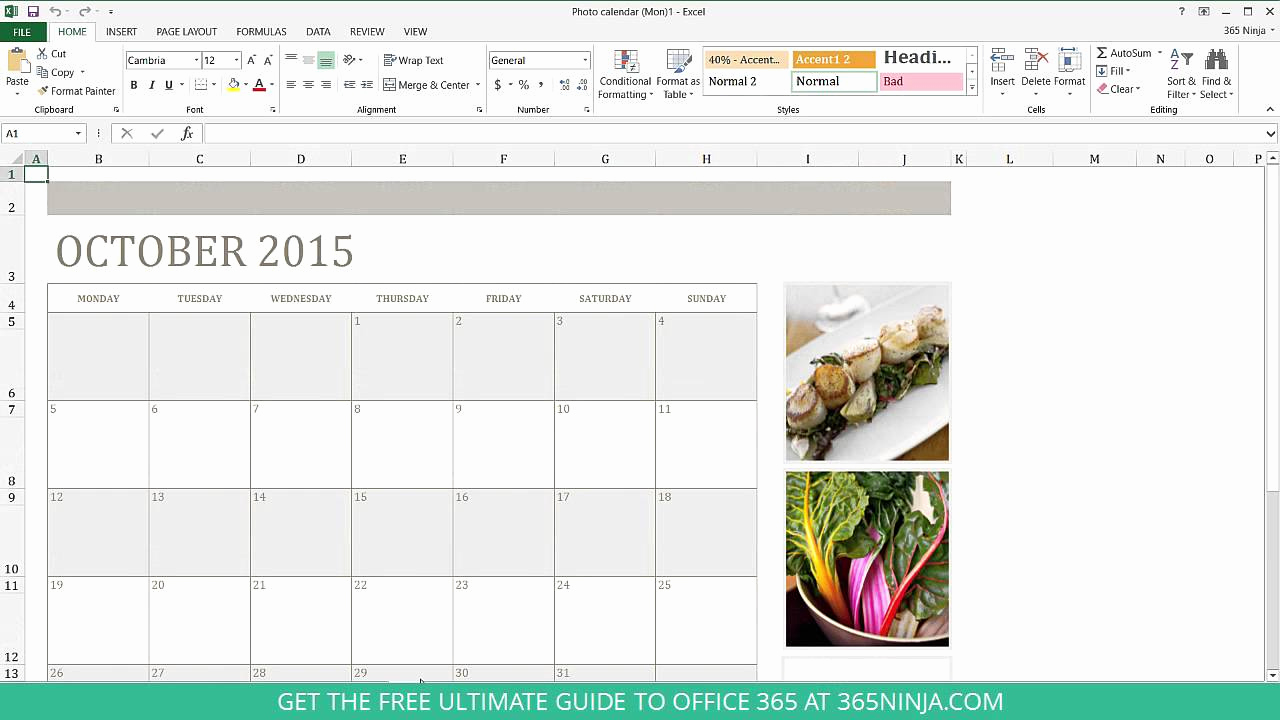 Make A Calender In Word Lovely How to Create A Calendar In Excel