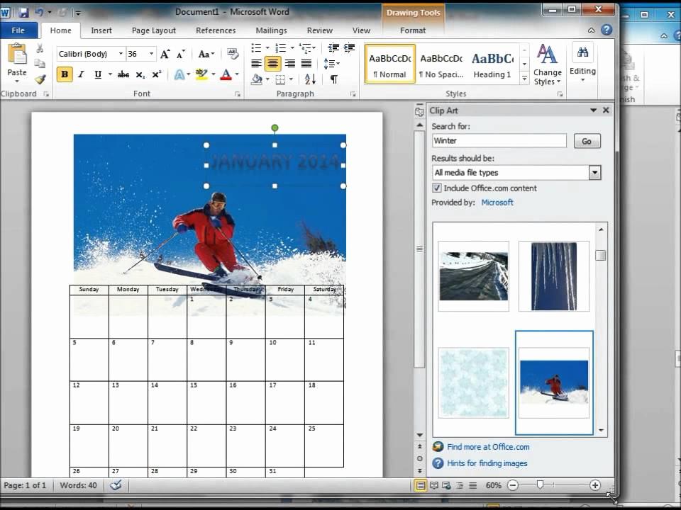 Make A Calender In Word Luxury How to Make A Calendar Using Microsoft Word 2010