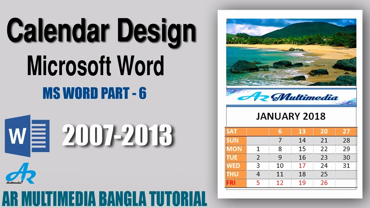 Make A Calender In Word Unique Ms Word How to Create A Professional Calendar In Word