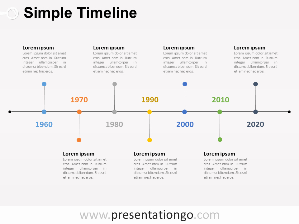 Make A Timeline In Word Awesome Free Timelines Powerpoint Templates Presentationgo